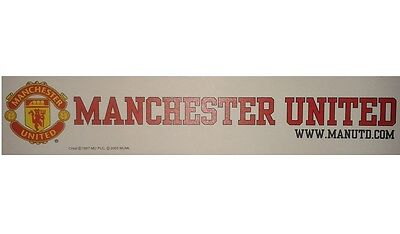 OFFICIAL MANCHESTER UNITED FC CAR WINDOW STICKER   WHITE