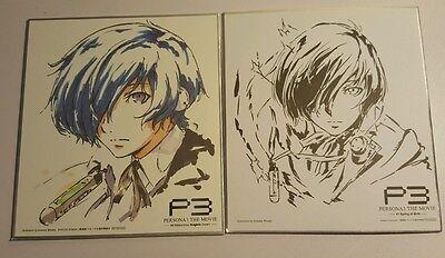 Persona 3 The Movie Makoto Yuki Minato Protagonist Autograph Board Set