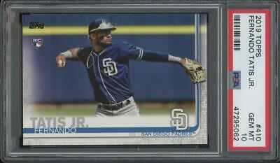 2019 Topps #410 Fernando Tatis Jr RC Rookie Gem Mint PSA 10