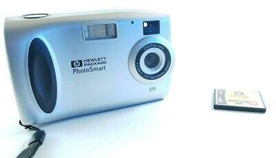 HP Hewlett Packard Photo Smart 215 2X Digital Still Zoom Camera w/ Memory Card Digital Still Camera Memory