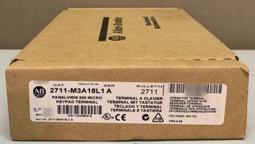 New Allen Bradley 2711-M3A18L1 Series A PanelView 300 Micro Mono RS-232 FRN 4.48