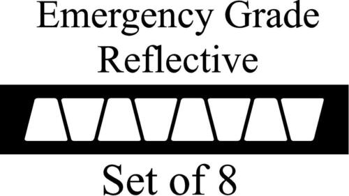 White HELMET TETS TETRAHEDRONS HELMET STICKER  EMT EMERGENCY GRADE REFLECTIVE