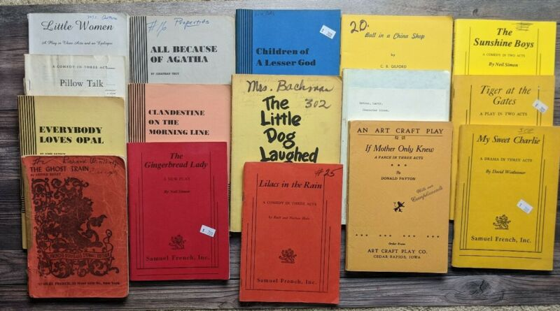 Lot of 16 Vintage Play Scripts ~ All Samuel French ~ Acting Books ~ Comedy/Drama