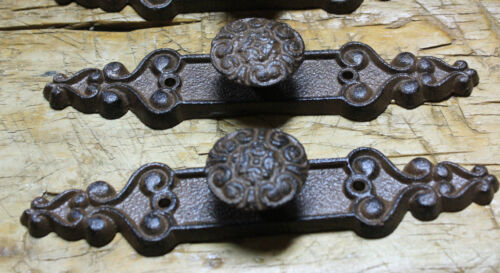 2 Cast Iron Antique Style Barn Handle Drawer Pull Shed Door Handles BACK PLATE