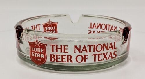 Vintage - Lone Star Beer Ashtray - The National Beer of Texas - Advertising