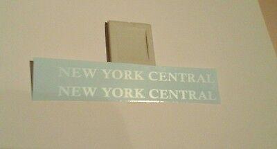 LIONEL NYC 1615T SLOPED BACK TENDER 2/SET WHITE LETTER WATERSLIDE DECALS LOOK!