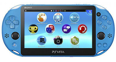 Sony Playstation Vita - PS Vita - New Slim Model - PCH-2006 (Aqua Blue) - NEW