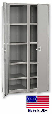 Storage Cabinet Commercialindl - 12 Gauge Steel - 8 Shelf - Gray - 72x36x24 P