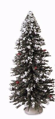"Byers Choice New 9"" Snowy Christmas Tree Accessory w/Plastic Storage Cylinder"