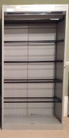 Tambour Door Metal Cabinet 1950mm High #156W