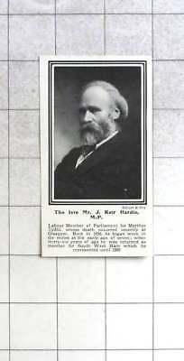 1915 Recent Death Of Mr J Kier Hardie Mp Merthyr Tydfil