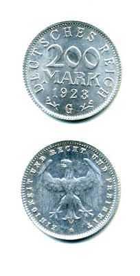 Deutsches Reich 200 Mark 1923 G Alu M_379