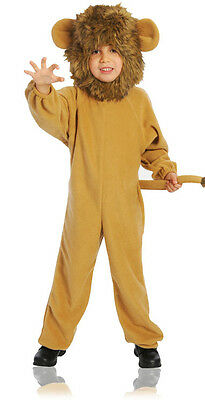 Toddler Boys Lion Costume Deluxe Jumpsuit Faux Fur Headpiece Halloween Brown 2-4 - Costume For Boy Toddler