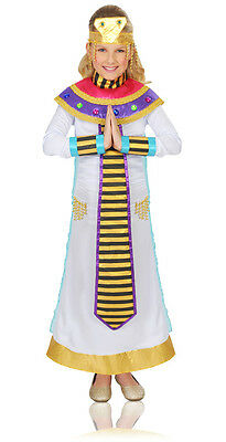Girls Cleopatra Costume Halloween Fancy Dress Jeweled Egyptian Child Kids XL NEW (Egyptian Costume)