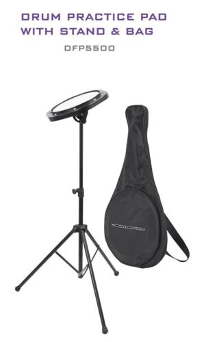 Drum Fire DFP5500 Drum Practice Pad with Stand & Bag