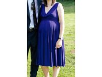 Navy ASOS Maternity occasion dress, size 10