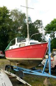 18' Hardy Motorsailer boat