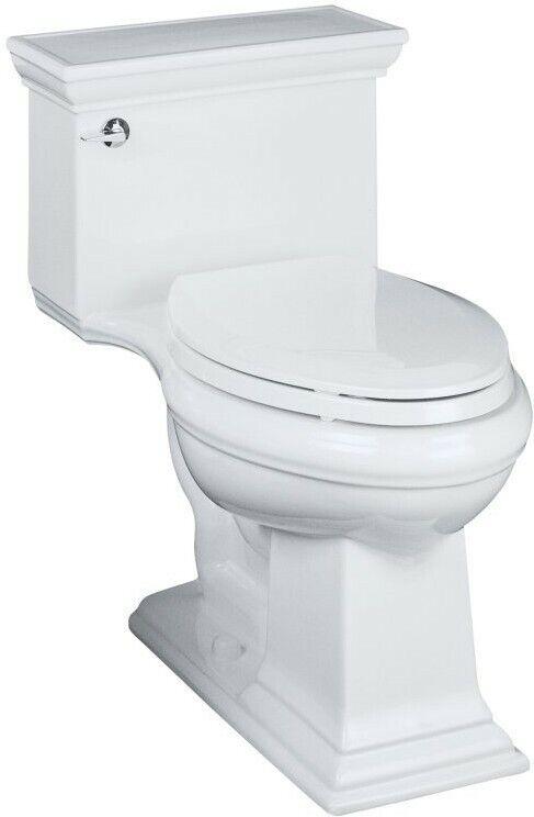 Memoirs® Stately Comfort Height elongated toilet and Glenbury Quiet-Close seat