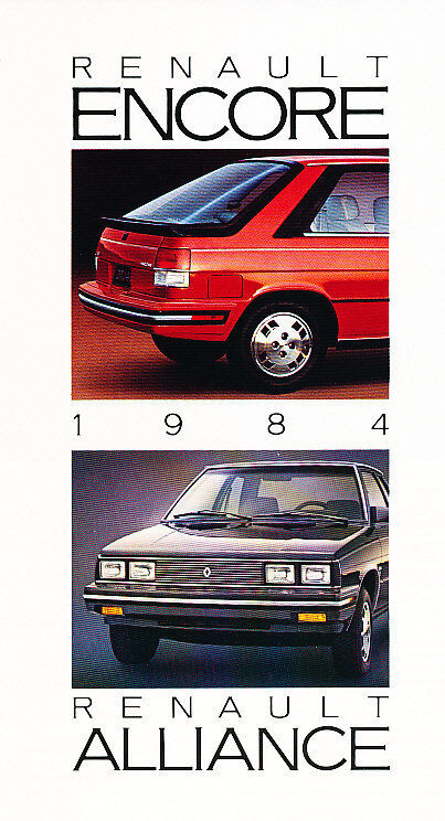 1984 Renault Alliance and Encore Original Sales Brochure