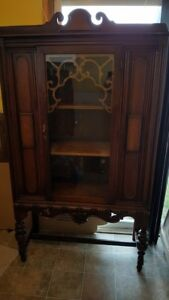 Antique cabinet with original patina and hardware