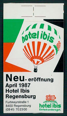 IBIS Hotel old luggage label REGENSBURG Germany Sticker, usado comprar usado  Enviando para Brazil