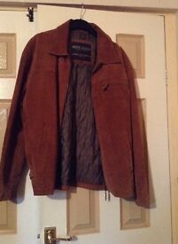 Ciro citterio suede jacket in brown