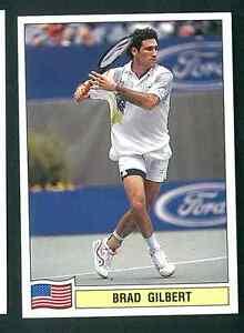 Brad-Gilbert-USA-Tennis-1992-Edizioni-Panini-MINT-n-78-Rookie