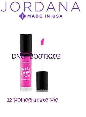 JORDANA Sweet Cream Matte Liquid Lip Color # 12 Pomegranate Pie Lipstick Gloss