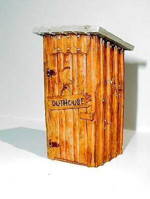 Outhouse Miniature Custom Rustic 1/24 Scale Scale Diorama Accessory Item
