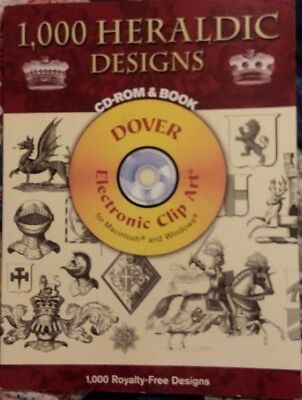 Dover 1,000 Heraldic Designs Book & CD Clip Art Digital Ephemera Scrap - Heraldic Designs Cd