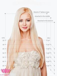 100% HUMAN HAIR,Blonde,CLIP IN Hair extension,7pcs set REMY Yellowknife Northwest Territories image 4