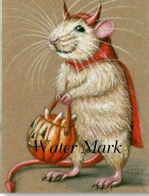 Rat Halloween Costume (HALLOWEEN  RAT IN COSTUME AS DEVIL*SCAREY*ERIE*FRIGHTENING*8X10 FABRIC)