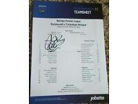 Portsmouth v Tottenham team sheet