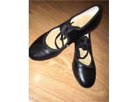 Size One Black Tap Shoes