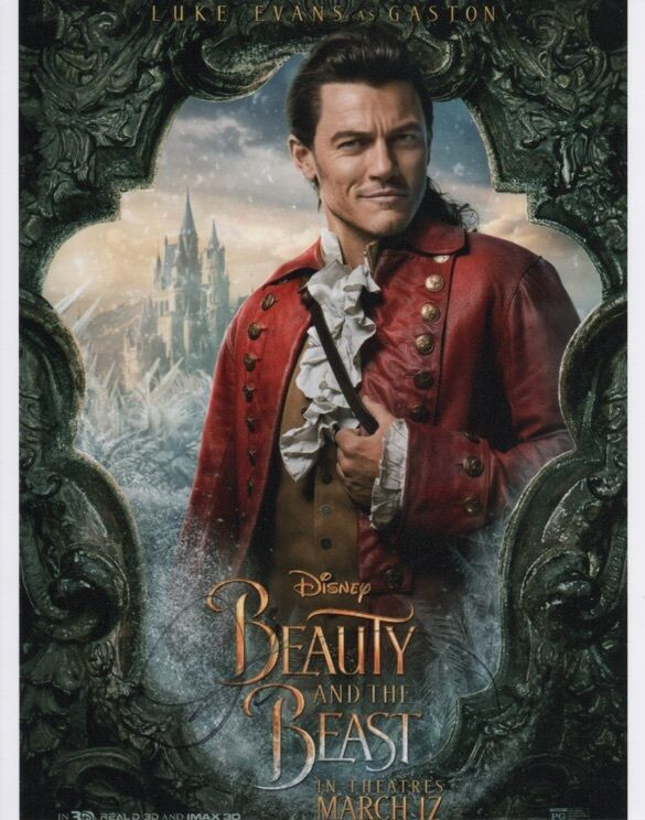 Luke Evans Beauty and the Beast Autographed Signed 8x10 Photo COA #1