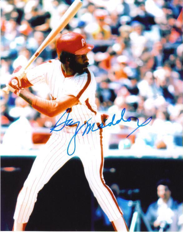 Garry Maddox Signed Color 8X10 Photo PHILLES PSA/DNA Quick Opinion