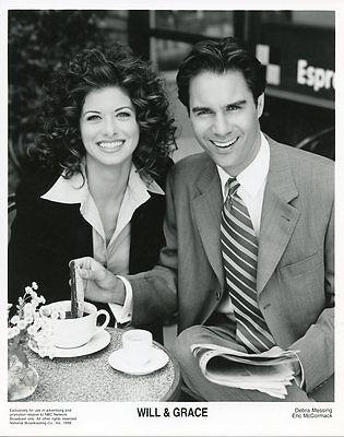 Debra Messing Eric Mccormick Smiling Will   Grace Original 1998 Nbc Tv Photo