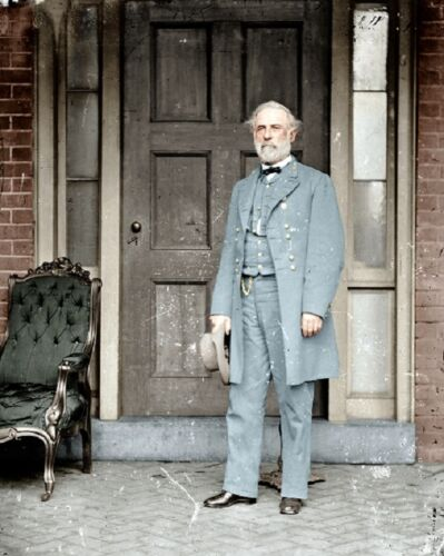 "Confederate General Robert E Lee colorized 8""x 10"" Civil War Color Photo 384"