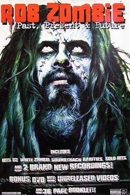 ROB ZOMBIE 2003 HUGE pastpresentfuture promotional poster Flawless New Old Stock