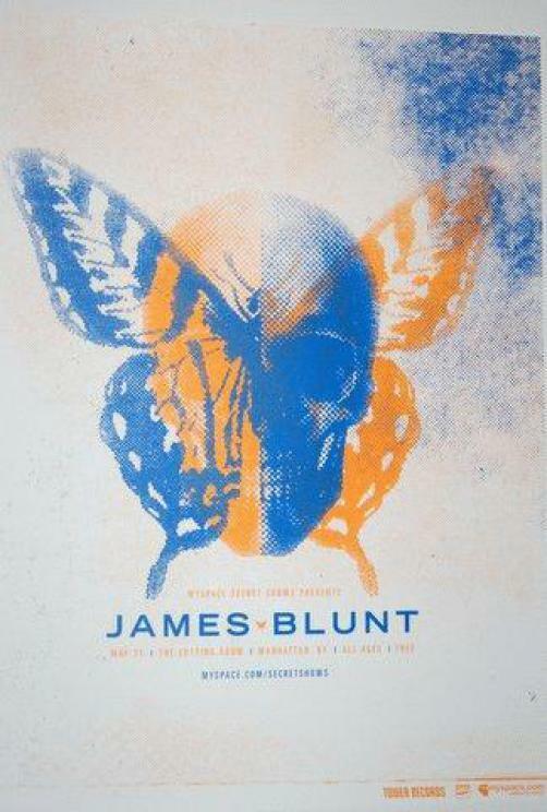 JAMES BLUNT MANHATTAN 2006 ORIGINAL CONCERT POSTER SILKSCREEN