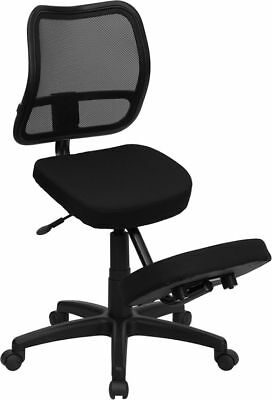 Black Fabric Mesh Ergonomic Kneeling Office Chair