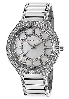 MICHAEL KORS MK3311 WOMEN'S KERRY MOTHER-OF-PERL DIAL SILVER-TONE WATCH
