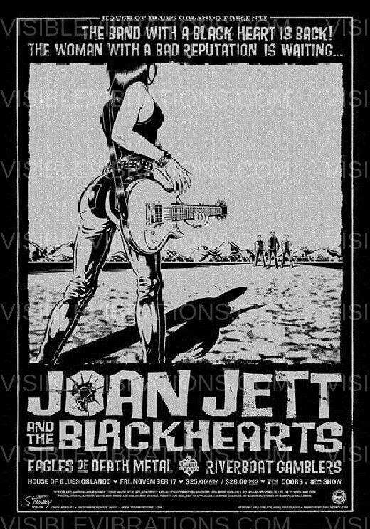 Joan Jett & The Blackhearts Concert Poster 2006