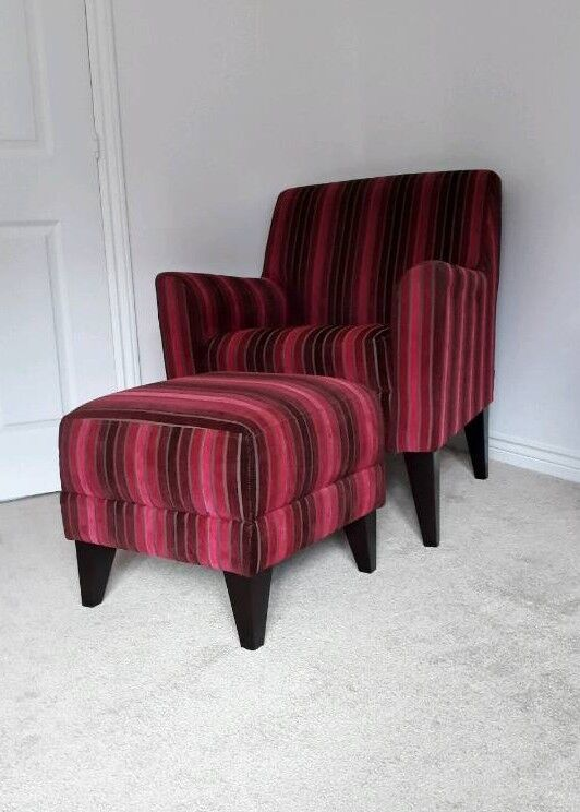 NEXT Arm Chair and foot stool