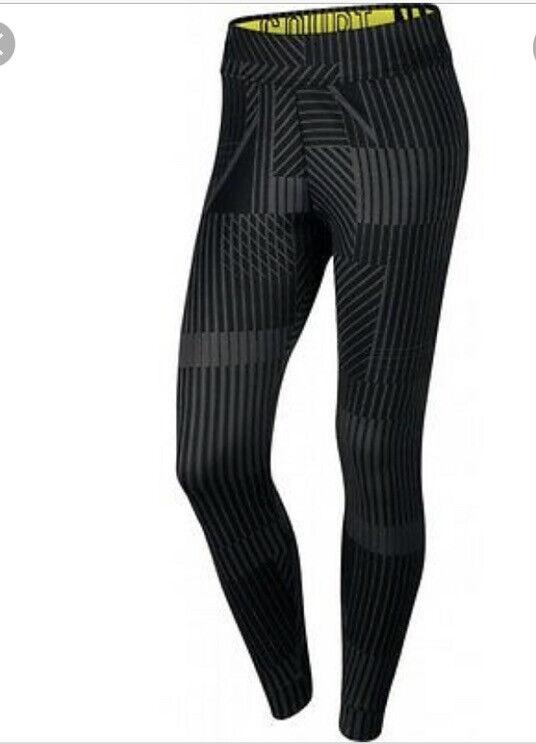 Nike Court Tennis Black Grey Leggings Tights Sz M 843982-010