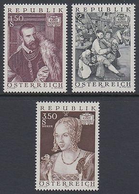 Österreich Austria 1971 ** Mi.1360/62 Gemälde Paintings Dürer Tizian Bruegel