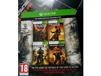 Gears of war 1,2,3 and judgment codes xbox one/Xbox 360