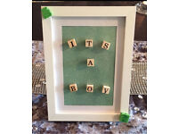 It's a boy photo frame baby gift