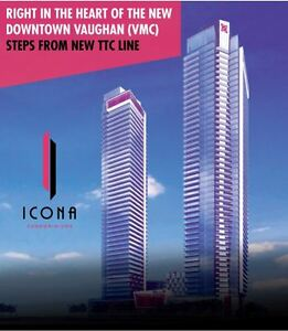Vaughan New Condos ICONA South VIP - 1 unit remaining High $200s