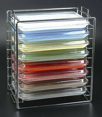 Chrome Tray And Lid Rack For Size B Trays Dental Setup Tray W Lid Holder